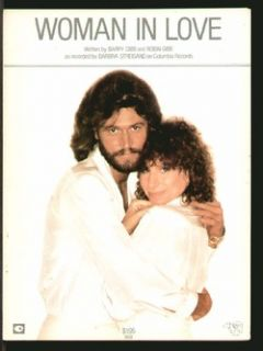 in Love 1980 Barbra Streisand Barry Gibb Vintage Sheet Music