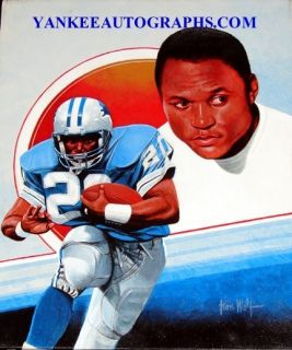 Barry Sanders Lions Leon Wolf Hand Painted 16 x 20