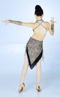 Samba Ramba Jive Brown Leopard Girls Ballroom Latin Dance Dress