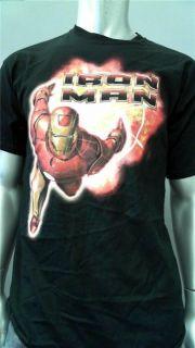 Steve & Barrys Iron Man Mens L Black Cotton Embellished Tee T Shirt