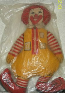 Ronald McDonald Cloth Rag Doll 16 Vintage Late 1960s Early 1970s