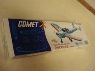 Comet Ercoupe Balsa Wood Scale Model Airplane Kit SEALED