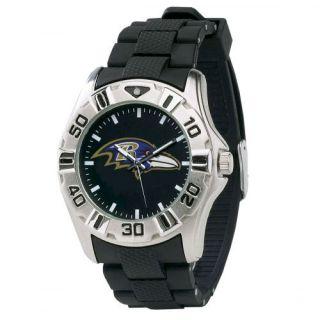 Baltimore Ravens NFL Football Wrist Watch Wristwatch Stainless Steel