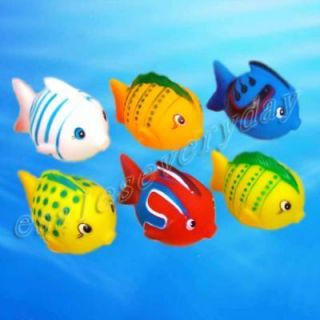 Pcs Cute Baby Bath Toys Rubber Race Clown Fish New