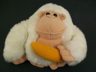 Carousel by Guy 7 White Ape Monkey w/ Banana Plush Stuffed Animal