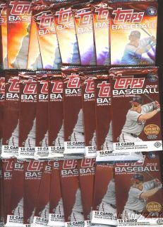 Topps Update Series Baseball Factory SEALED Hobby Foil Packs