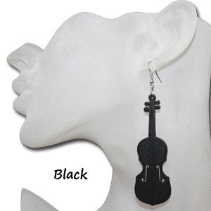 Violin Earrings Band Orchestra Musical Instruments Concerts Jewelry