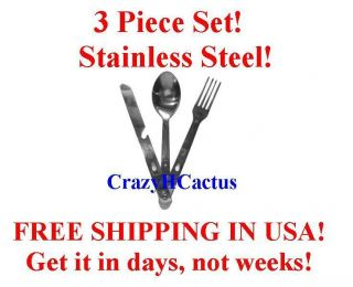 Piece Utensil Set Spoon Knife & Fork Stainless Steel Great for