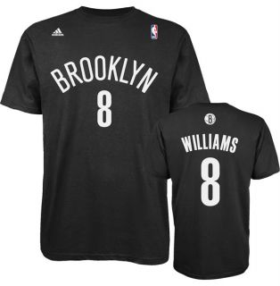 Brooklyn Nets Deron Williams Black Name and Number Jersey T Shirt