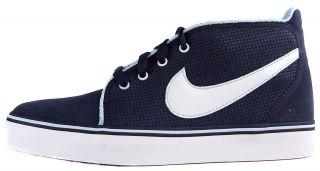 Nike Womens Toki U Sz 10 Basketball Shoes Black White Blue
