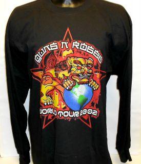 GUNS N ROSES WORLD TOUR CHINESE DEMOCRACY 2002 LONG & SHORT SLEEVE T