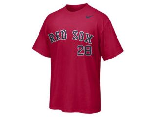 Nike Player Number (MLB Red Sox) Mens T Shirt