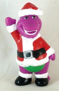 Vintage Barney PVC Figurine Santa Claus Christmas