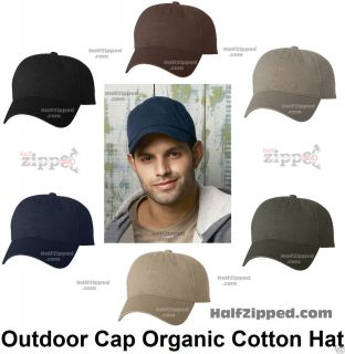 Cap Organic Cotton Baseball Hat ORG600 Unstructured Low Profile