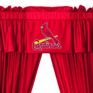 MLB St Louis Cardinals Drapes Valance Set Baseball Window Treatment