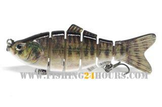 Jointed Fishing Lure Bait Crank Swimbait Bass Shad 4 0 5oz New