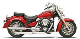 Bassani Slip on Mufflers Chrome Yamaha Road Star 90 07