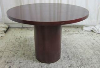 Kimball Wood Veneer Round Table for Dining or Conference