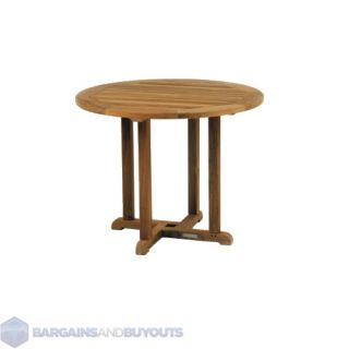Kingsley Bate Solid Teak Wood Essex 42 Round Outdoor Dining Table