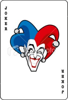 stock illustration 6703276 joker card