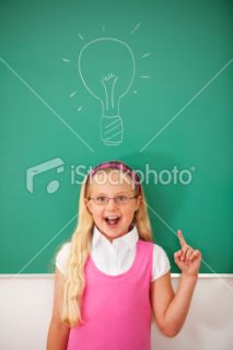 School Student Thinking Royalty Free Stock Photo