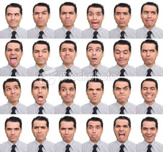 Visage expressif, Comportement humain, Joyeux, Tristesse, Hommes Photo