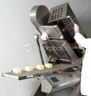stock photo 10856841 cheese slicing machine