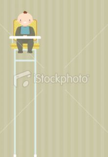 Baby High Chair Royalty Free Stock Vector Art Illustration
