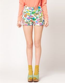 Grandi marche   Pantaloncini con stampa floreale su