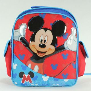 Disney Mickey Mouse Print 12 Small Toddler Backpack   Book Bag Boys