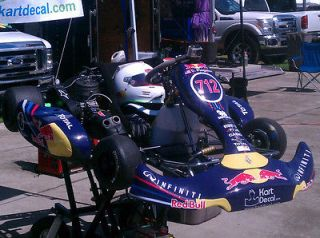 2012 Ferrari Benz F1 Red Bull Sticker Decal Birel CRG Tony Kart Unico