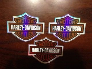 Set Of 3 Harley Davidson decals new motorcycle stickers, motorcycle