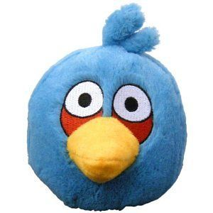new 8 blue angry bird plush with label uk time