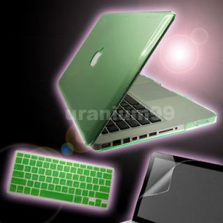 15 15.4 MacBook Pro Crystal Hard Case GREEN+ Keyboard Cover + Screen