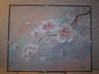 50 Beautiful flower painting by Lee Reynolds of Vanguard. ORIGINAL