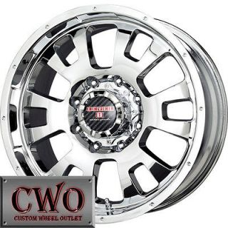 20 Chrome Level 8 Guardian Wheels Rims 8x180 8 Lug GMC Chevy 2500