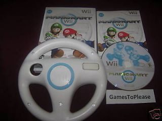 mario kart wheel nintendo wii game complete free optional bonus