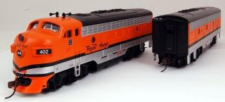 Bachmann HO Scale Train Diesel Locomotives F7 A & B Analog Royal Gorge