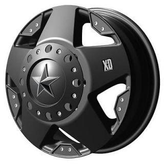 KMC XD775 Rockstar Dually Matte Black Wheel 16x6 8x170mm BC