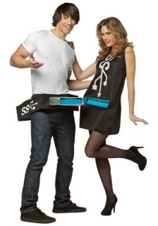 USB Port and Stick Couples Nerd Costume Plug Socket Mens Womens Adult
