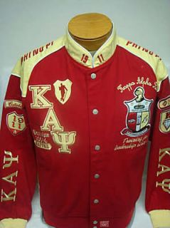 new kappa alpha psi fraternity racing jacket red yellow