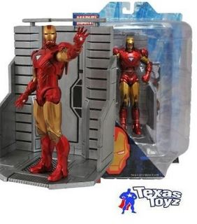 Marvel Select AVENGERS movie IRON MAN MARK VI Figure Toy + FREE COMIC