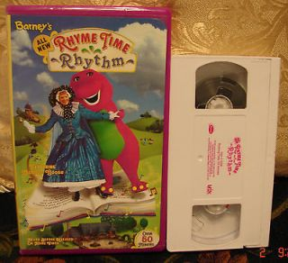 Barneys Rhyme Time Rhythm Vhs Ship 1 Video $3 or Ship ALL for $5
