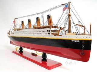 Lighted RMS Titanic Ocean Liner 32 Wooden Display Model Cruise Ship