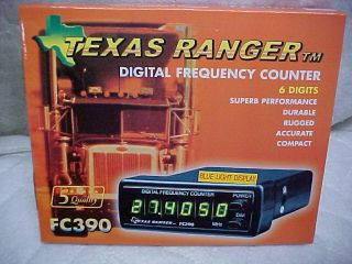 texas ranger cb ham radio fc390 freq frequency counter time