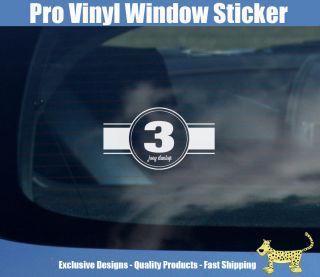 joey dunlop race number vinyl window sticker from united kingdom