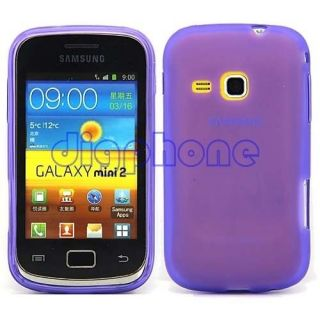 Purple Matte TPU Silicone Gel Case Cover For Samsung Galaxy Mini 2