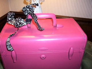VINTAGE SAMSONITE SUITCASE LUGGAGE CARRY ON TRAIN CASE PINK CHIC