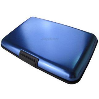 Blue Mini Pocket Waterproof Business ID Credit Card Wallet Holder Case