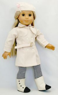 4PC Gream Coloured Doll Clothes outfit for 18 american girl new